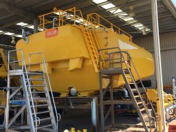 large yellow steel boiler