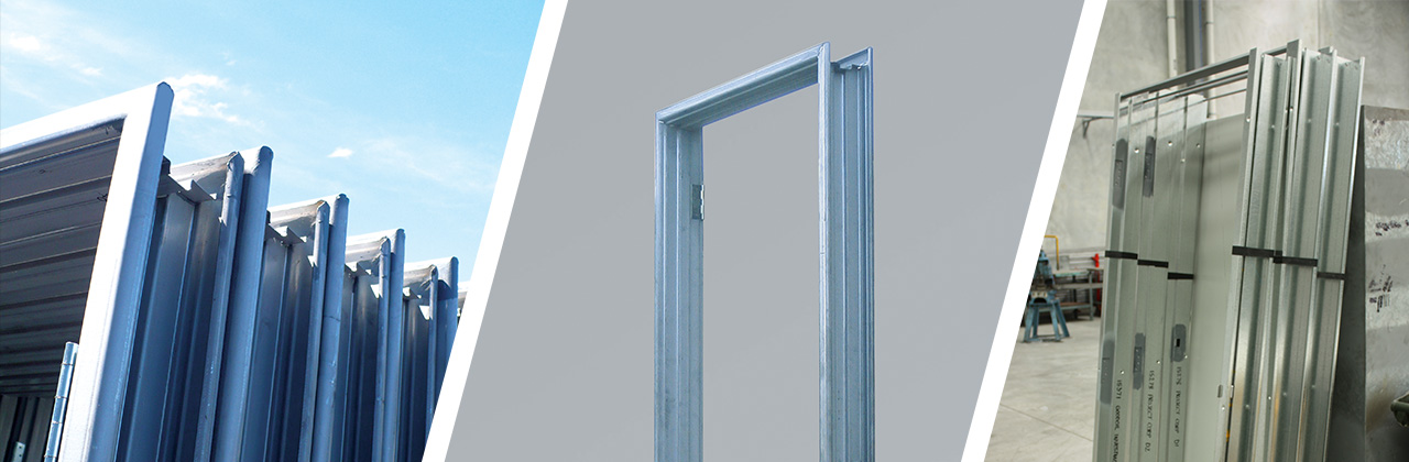 Door Frames. Pressed Metal Door Frames